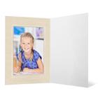 Eventmappe ohne Tasche für 10x15 cm - weiß glänzend - creme satinierte Maske - Blindprägung Produktbild