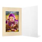 Eventmappe ohne Tasche für 13x18 cm - weiß glänzend - creme satinierte Maske - Blindprägung Produktbild