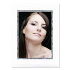 Aufsteller für 13x18 cm - weiß Filzprägung mit Silberrand - mit weißem starkem Rücken Produktbild