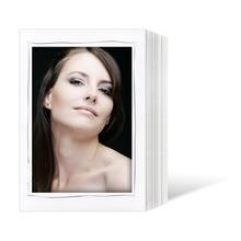 Endlosleporello  für 15x20 cm - weiß - weiße matte Maske - grauer Tuscherand - 25 Teile Produktbild