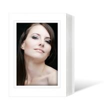 Endlosleporello  für 15x20 cm - weiß - weiße matte Maske - grauer Rand - 25 Teile Produktbild