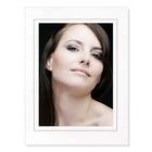 Fotomaske für 15x20 cm - weiß matt - grauem Rand - ohne Rückwand Produktbild