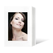 Endlosleporello für 13x18 cm - weiß - weiß matte Maske - Blindprägung- 100 Teile  Produktbild