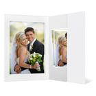 Portraitmappe mit Tasche für 13x18 cm - weiß matt - Blindprägung Produktbild