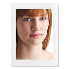 Einzelpassepartout für 13x18 cm - weiß - Blindprägung - mit Rückwand Produktbild