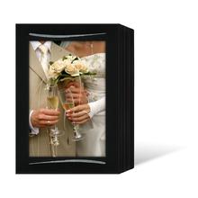 Endlosleporello für 13x18 cm - schwarz - schwarze leinenstrukturierte Maske - Silberstrich - 100 Teile Produktbild