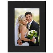 Einzelpassepartout für 13x19 cm - schwarz gerippt - mit Rückwand Produktbild