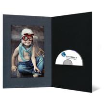 DVD/CD Fotomappe für 13x19 cm - schwarz - anthrazit satinierte Maske - Blindprägung Produktbild