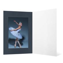 Eventmappe ohne Tasche für 13x19 cm - schwarz matt - anthrazit satinierte Maske - Blindprägung Produktbild