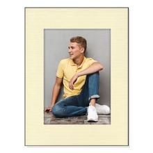 Einzelpassepartout für 13x19 cm - creme gerippt - mit Rückwand Produktbild