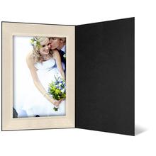 Eventmappe ohne Tasche für 13x19 cm - schwarz matt - creme satinierte Maske - Blindprägung Produktbild