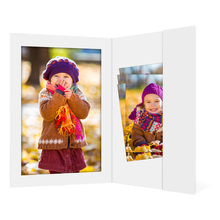 Portraitmappe mit Tasche für 20x30cm - weiß matt - ohne Rand Produktbild