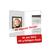 Individuell bedruckbare Passbildmappe mit Ausschnitt 32x42 mm & Tasche - weiß - 4-farbig bedruckbar Produktbild Additional View 3 2XS