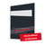 Individuell bedruckbare Passbildmappe mit Ausschnitt 32x42 mm & Tasche - schwarz - 1-farbig bedruckbar Produktbild Front View 2XS