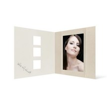 Grußkarte Transparent für 9x13 cm Hochformat - 3 Ausschnitte - creme - Danke Produktbild
