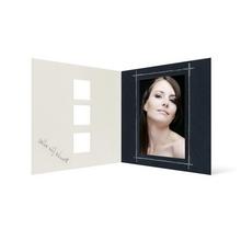 Grußkarte Transparent für 9x13 cm Hochformat - 3 Ausschnitte - anthrazit - Danke Produktbild