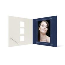 Grußkarte Transparent für 9x13 cm Hochformat - 3 Ausschnitte - blau - Danke Produktbild