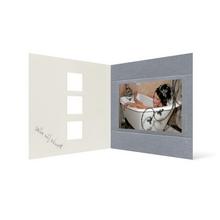Grußkarte Transparent für 9x13 cm Querformat - 3 Ausschnitte - silber - Danke Produktbild