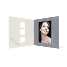 Grußkarte Transparent für 9x13 cm Hochformat - 3 Ausschnitte - silber - Danke Produktbild