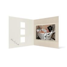 Grußkarte Transparent für 9x13 cm Querformat - 3 Ausschnitte - creme - Danke Produktbild