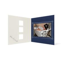 Grußkarte Transparent für 9x13 cm Querformat - 3 Ausschnitte - blau - Danke Produktbild
