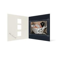 Grußkarte Transparent für 9x13 cm Querformat - 3 Ausschnitte - anthrazit - Danke Produktbild