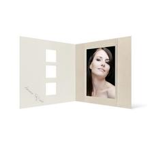 Grußkarte Transparent für 9x13 cm Hochformat - 3 Ausschnitte - creme - Beautiful Moments Produktbild