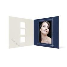 Grußkarte Transparent für 9x13 cm Hochformat - 3 Ausschnitte - blau - Beautiful Moments Produktbild