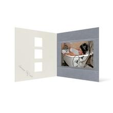 Grußkarte Transparent für 9x13 cm Querformat - 3 Ausschnitte - silber - Beautiful Moments Produktbild