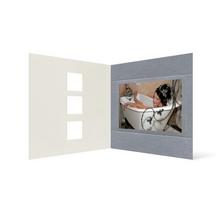 Grußkarte Transparent für 9x13 cm Querformat - 3 Ausschnitte - silber - neutral Produktbild