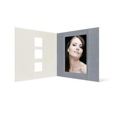 Grußkarte Transparent für 9x13 cm Hochformat - 3 Ausschnitte - silber - neutral Produktbild