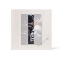 Grußkarte Transparent für 9x13 cm Hochformat - 1 Ausschnitt - creme - Danke Produktbild