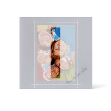Grußkarte Transparent für 9x13 cm Hochformat - 1 Ausschnitt - blau - Danke Produktbild