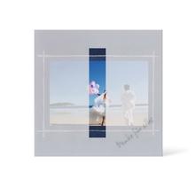 Grußkarte Transparent für 9x13 cm Querformat - 1 Ausschnitt - blau - Danke Produktbild