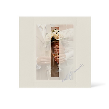 Grußkarte Transparent für 9x13 cm Hochformat - 1 Ausschnitt - creme - Beautiful Moments Produktbild