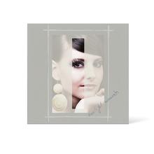 Grußkarte Transparent für 9x13 cm Hochformat - 1 Ausschnitt - anthrazit - Beautiful Moments Produktbild