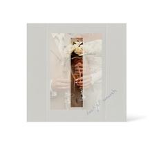 Grußkarte Transparent für 9x13 cm Hochformat - 1 Ausschnitt - silber - Beautiful Moments Produktbild
