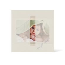 Grußkarte Transparent für 9x13 cm Querformat - 1 Ausschnitt - creme - Beautiful Moments Produktbild