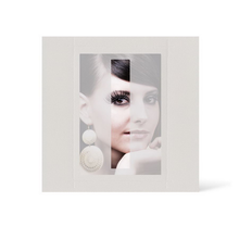 Grußkarte Transparent für 9x13 cm Hochformat - 1 Ausschnitt - creme - neutral Produktbild