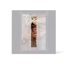 Grußkarte Transparent für 9x13 cm Hochformat - 1 Ausschnitt - anthrazit - neutral Produktbild