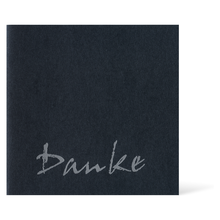 Satinierte Grußkarten 16x16 cm - anthrazit - Danke Produktbild
