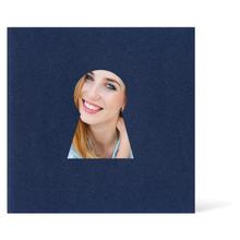 Satinierte Grußkarten 16x16 cm - blau - Schlüsselloch Produktbild
