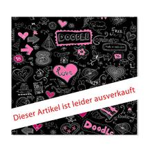 3 tlg. Schulfotomappe / Kindergartenmappe für 13x18 cm mit Fototasche - Herz-Motiv - SALE Produktbild
