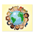 3 tlg. Schulfotomappe / Kindergartenmappe für 13x18 cm mit Fototasche - Kinder dieser Welt Produktbild Front View 2XS