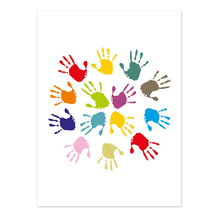 2 tlg. Fotomappe / Kindergartenmappe für 20x30 cm mit Fototasche - Hände Produktbild