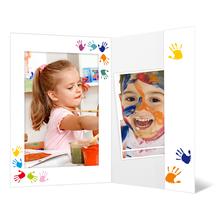 Portraitmappe mit Tasche für 13x18 cm - Motivdruck Hände Produktbild