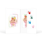 Mini Passbildmappe mit Einsteckschlitz für 4,5x6 cm - Motivdruck Hände Produktbild