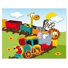 3 tlg. Schulfotomappe / Kindergartenmappe für 13x18 cm mit 2 Einsteckschlitzen - Eisenbahn Produktbild