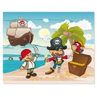 3 tlg. Schulfotomappe / Kindergartenmappe für 13x18 cm mit 2 Einsteckschlitzen - Piraten mit Schatz Produktbild