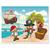 3 tlg. Schulfotomappe / Kindergartenmappe für 13x18 cm mit 2 Einsteckschlitzen - Piraten mit Schatz Produktbild Front View 2XS